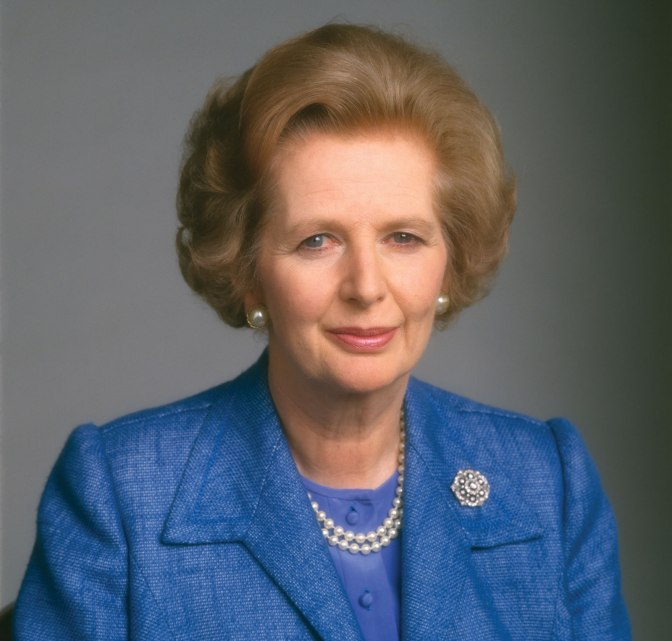Margaret Thatcher bench pressing in Texas